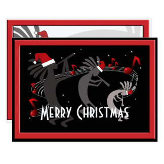 Kokopelli Christmas Flat Greeting Card