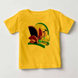 Kokopelli Climbing Stairs to Sun Baby T-Shirt