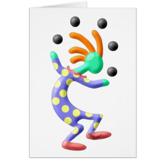 Kokopelli Clown Card