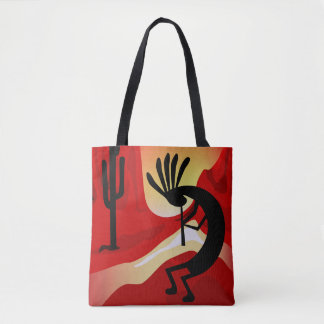 Kokopelli Desert Sunset Southwest Tote