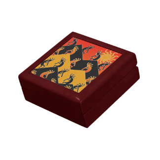 Kokopelli Desert Sunset Tribal  Southwest Gift Box