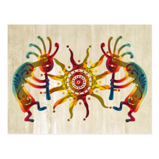 KOKOPELLI DUO SUN + your ideas Postcard