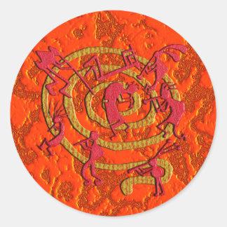 Kokopelli: Fiery Dance - Sticker