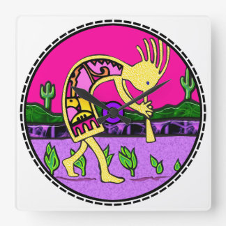 Kokopelli Flute Player Southwestern Clock