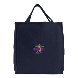 Kokopelli Golfer Embroidered Tote Bag
