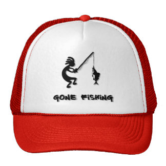 Kokopelli Gone Fishing Cap