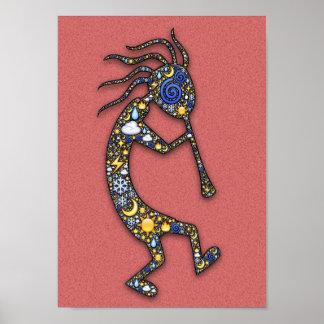 Kokopelli Indian Culture Fertility and Music Deity Poster