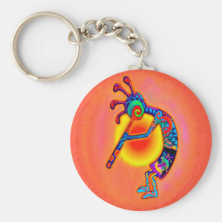 Kokopelli Lizard Sun Key Ring