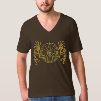 KOKOPELLI / MAN IN THE MAZE gold + your ideas T-Shirt
