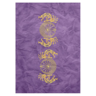 KOKOPELLI / MAN IN THE MAZE gold + your ideas Tablecloth
