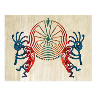 KOKOPELLI / MAN IN THE MAZE + your ideas Postcard