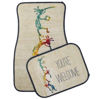 KOKOPELLI musician acrobats + your ideas Car Mat