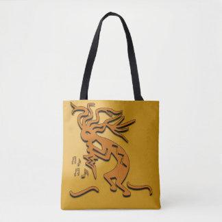 Kokopelli Musician Artwork Tote Bag