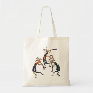 KOKOPELLI musician trio + your ideas Budget Tote Bag