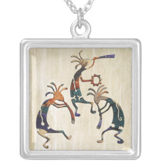 KOKOPELLI musician trio + your ideas Silver Plated Necklace