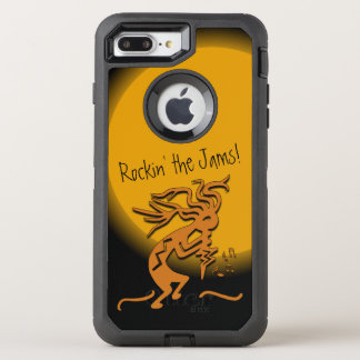 Kokopelli Musician With Musical Notes Artwork OtterBox Defender iPhone 8 Plus/7 Plus Case