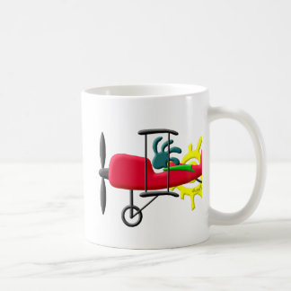 Kokopelli Native American Stunt Plane Pilot Coffee Mug