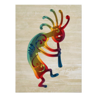 KOKOPELLI ornaments + your ideas Poster