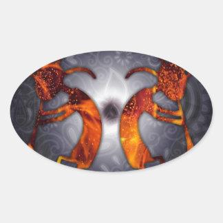 kokopelli oval sticker