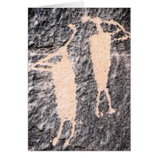 Kokopelli Petroglyph Moab Utah Note Card