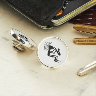 Kokopelli Saxaphone Player Petroglyph Lapel Pin