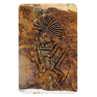 Kokopelli Saxaphone Player Petroglyph Magnet