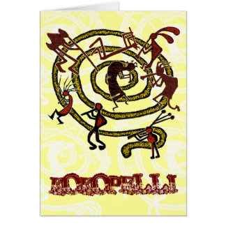 Kokopelli & Spiral - Greeting Card #1