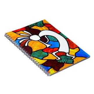 Kokopelli Stained Glass Notebook