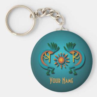 Kokopelli  Sun Custom Key Chain