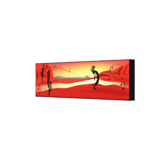 Kokopelli Sunset Desert Landscape Canvas Print