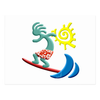 Kokopelli Surfing Postcard