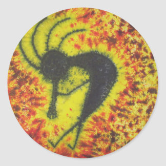 Kokopelli Tie Dye Sticker