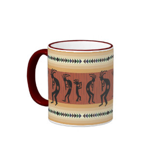 Kokopelli Tribal Design Coffee Mugs
