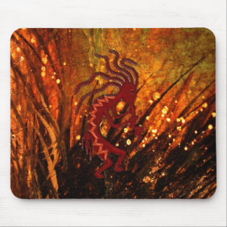 Kokopelli with Fireflies Mouse Pad