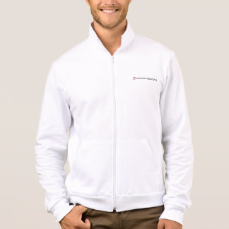 Kokoshungsan Men's Fleece Zip Jogger, White Jacket