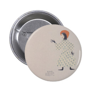 Koloman Moser-Picture book for the niece of Ditha Pinback Buttons