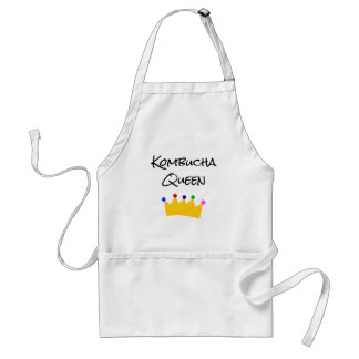 Kombucha Queen Crown White Apron