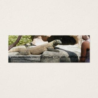Komodo Dragon Bookmark Mini Business Card