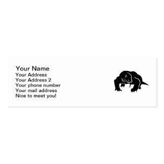 Komodo dragon Double-Sided mini business cards (Pack of 20)