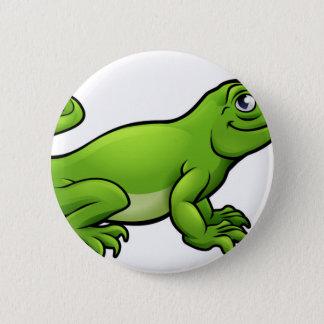 Komodo Dragon Lizard Cartoon Character 6 Cm Round Badge
