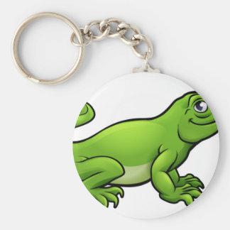 Komodo Dragon Lizard Cartoon Character Key Ring