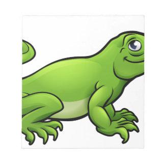 Komodo Dragon Lizard Cartoon Character Notepad