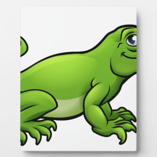 Komodo Dragon Lizard Cartoon Character Plaque