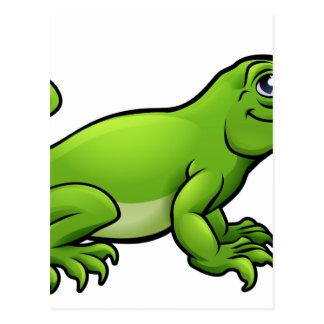 Komodo Dragon Lizard Cartoon Character Postcard