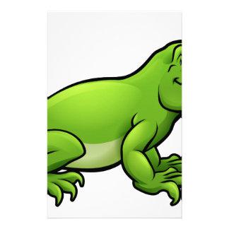 Komodo Dragon Lizard Cartoon Character Stationery