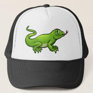 Komodo Dragon Lizard Cartoon Character Trucker Hat