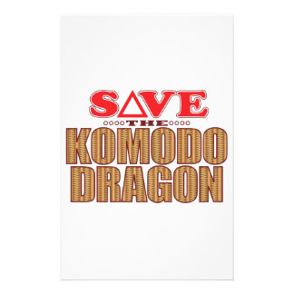 Komodo Dragon Save Personalized Stationery