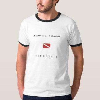 Komodo Island Indonesia Scuba Dive Flag T-Shirt