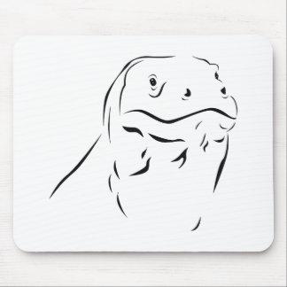 Komodo Silhouette Mouse Pad