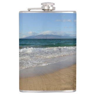 Komohana Volcano in Maui Hawaii Hip Flask